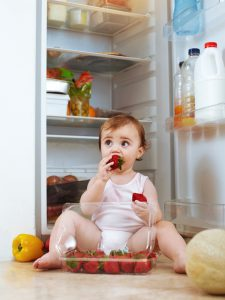 Shot of a toddler eating food from the fridgehttp://195.154.178.81/DATA/i_collage/pi/shoots/781779.jpg